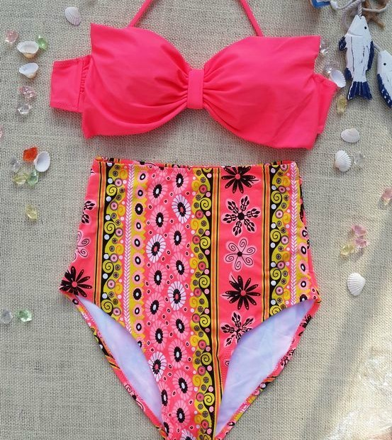 High waisted bikini