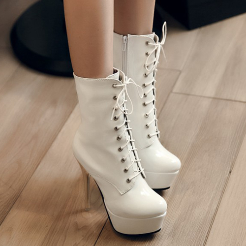 white tall boots