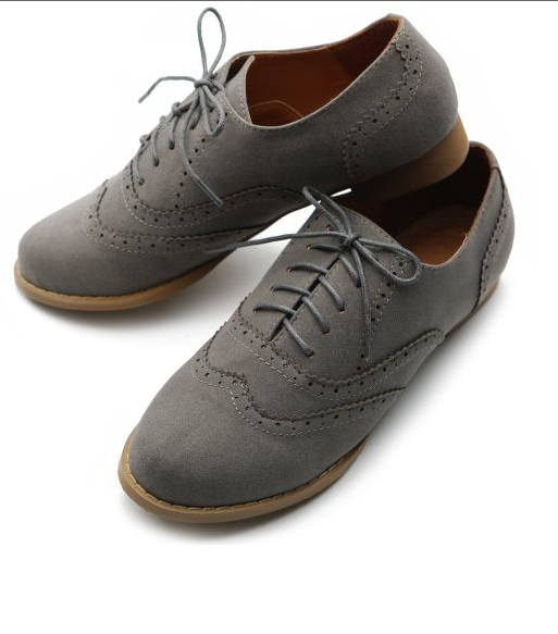 Suede Lace Up Oxford Shoe