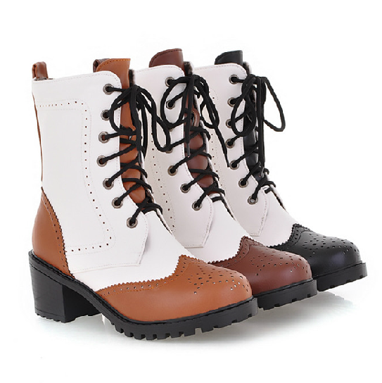Oxford Matte Lace Up Boots