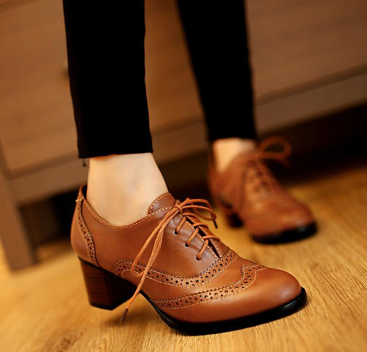 Retro Lace Oxford Shoes