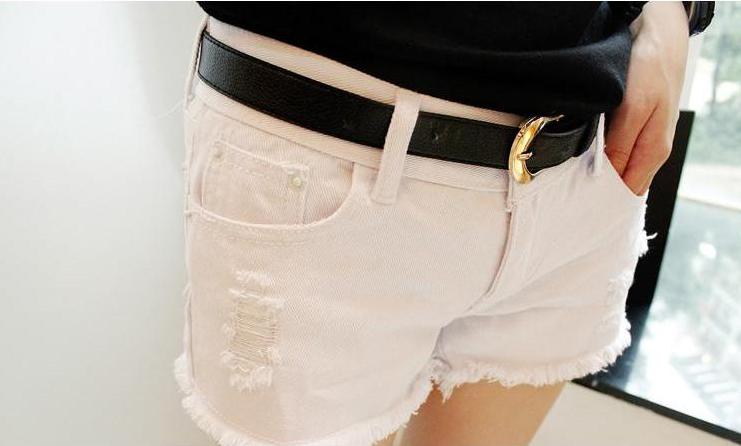 Wild White Denim Shorts