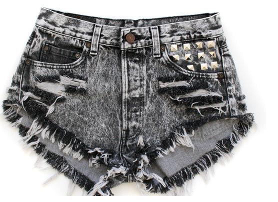 Fringe Denim Shorts