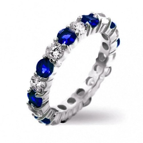 Blue + White Sapphire Ring