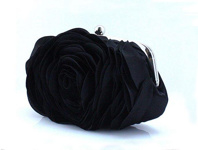 Black Rose Clutch