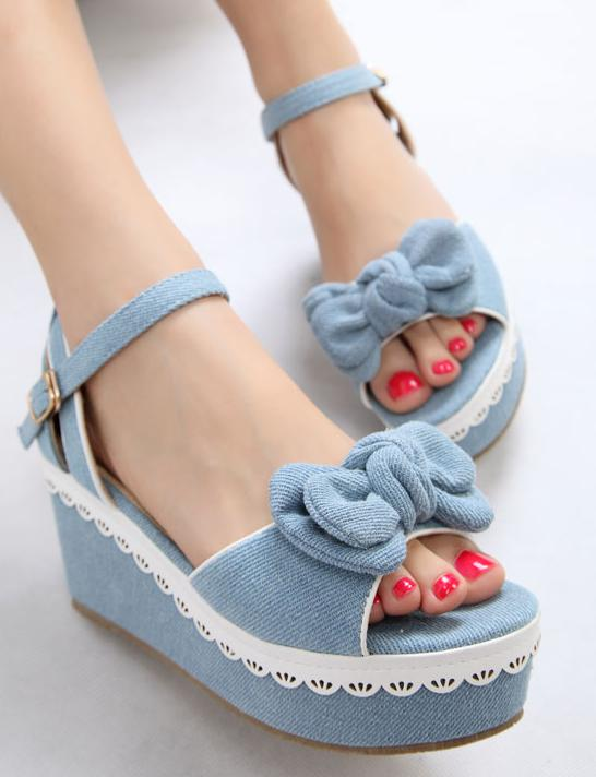 Denim Heels Sandal