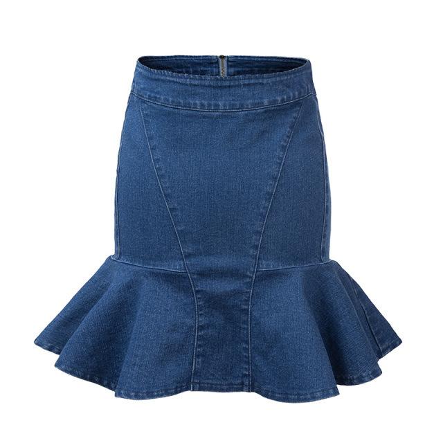 Mermaid Denim Skirt