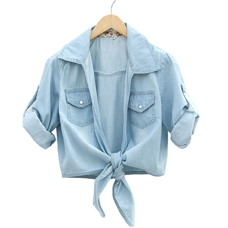 Washed Denim Half Sleeve Shirt