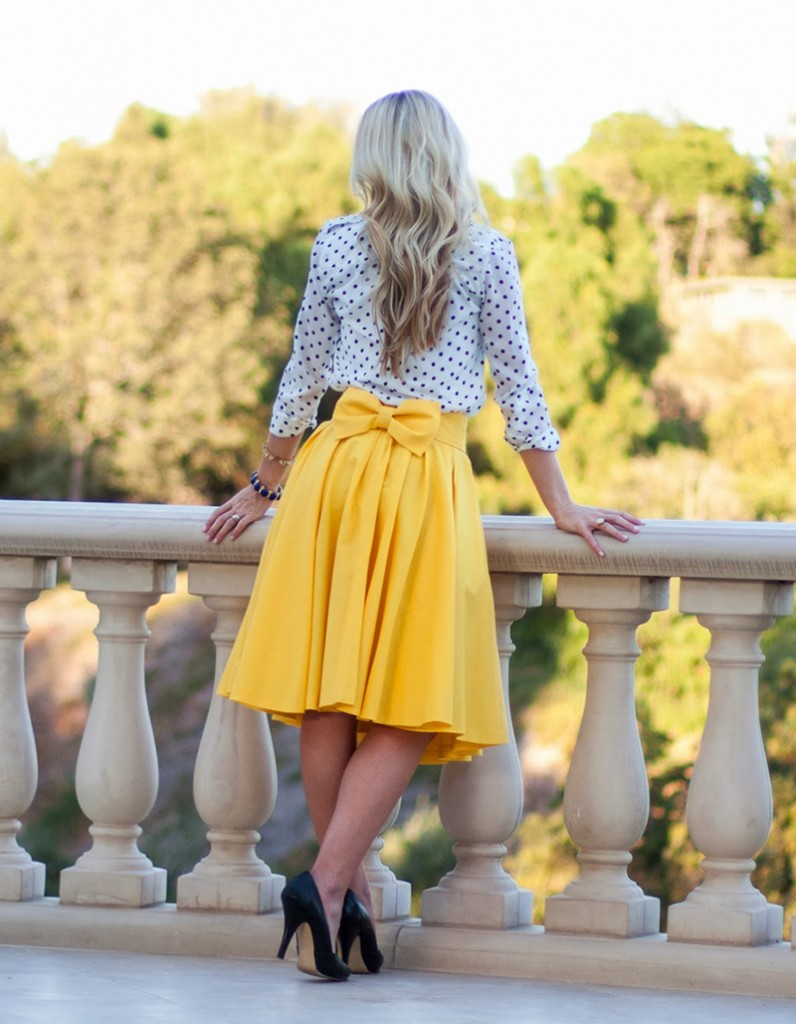 Flared + Pleated Skirt