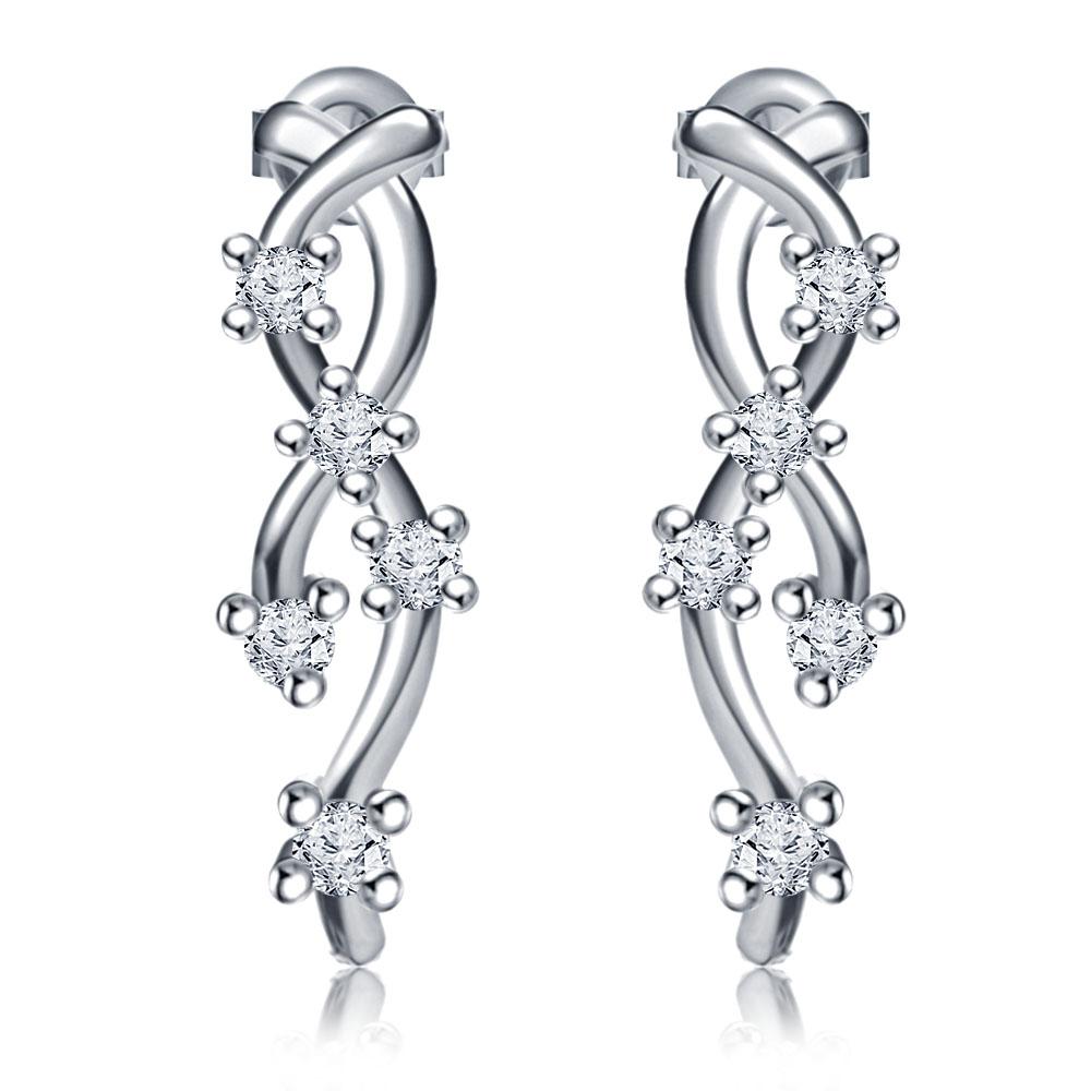 Cris-Cross Stud Earrings