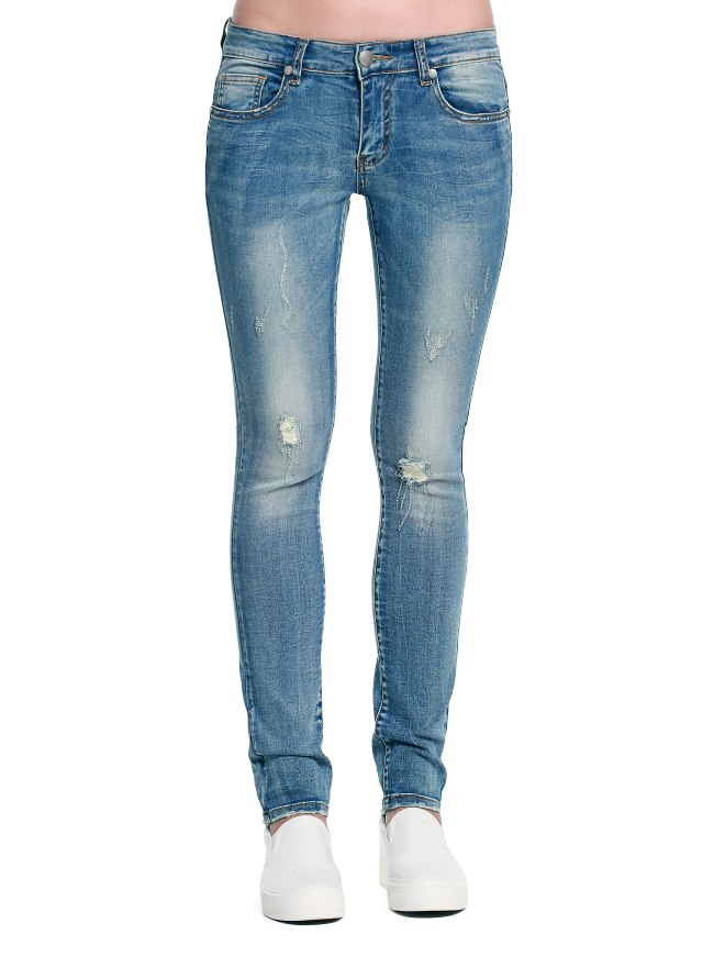 Ladies Knife-like Denim Trousers