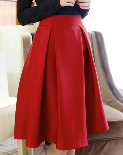 Red Midi Skirts