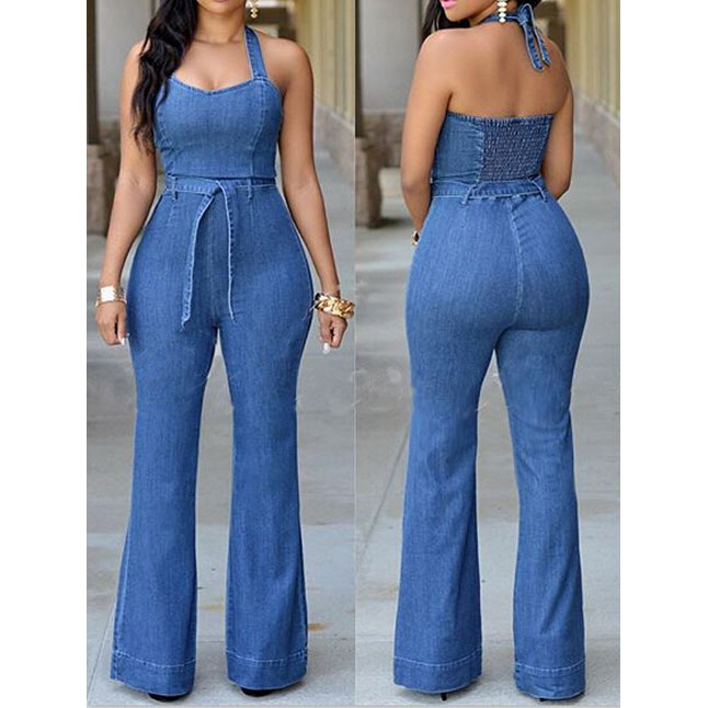 6412921cba18 Fashion Sexy Denim Backless Jumpsuits 5899163 on Luulla