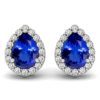Genuine Natural Tanzanite Earrings