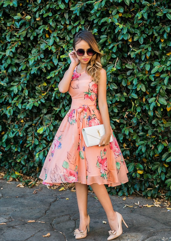 Kim Le A floral dress can neer be wrong for a Summer wedding!
