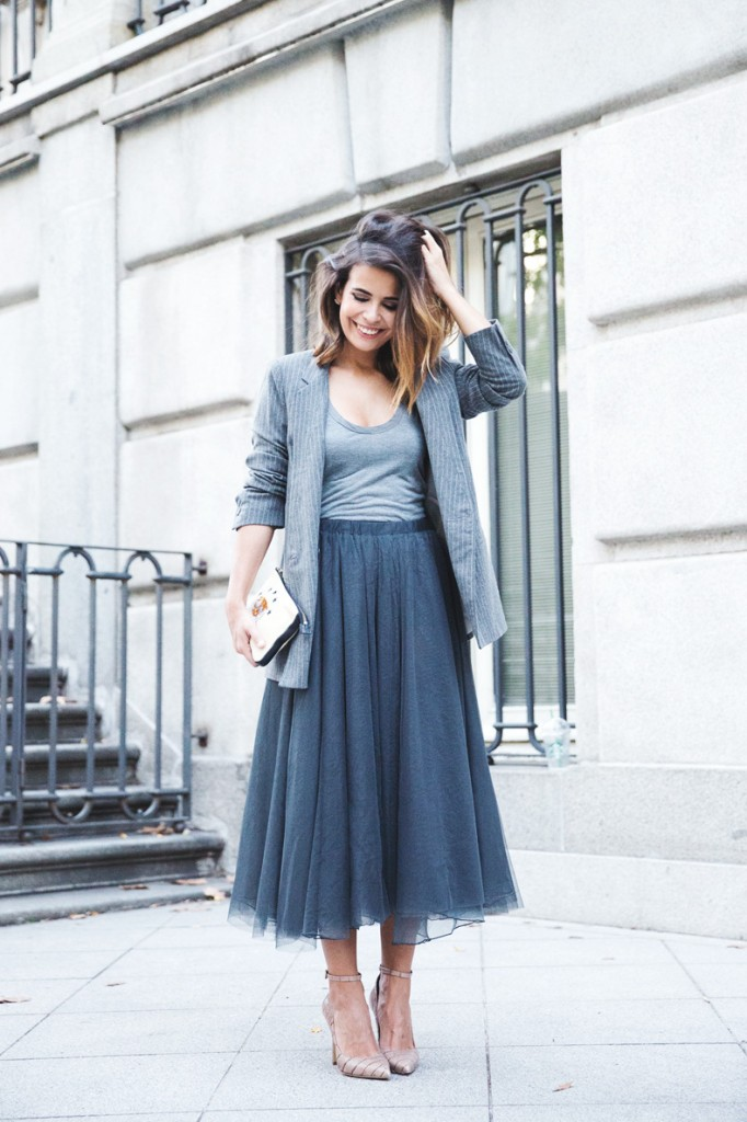 Tulle_Skirt-Twinset-Striped_Blazer-Outfit-Street_Style-Collage_Vintage-35