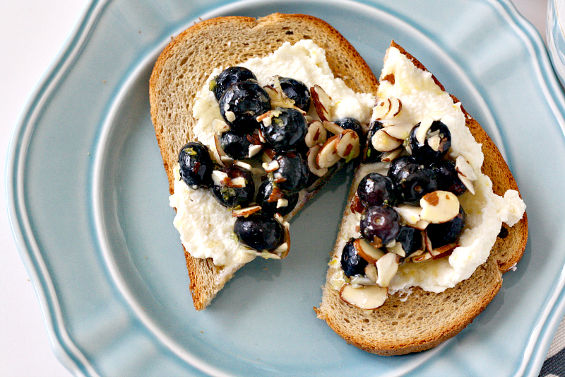 Blueberry-Almond-Ricotta-Toast