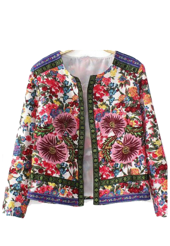 Bold And Fun Floral Print Blazer