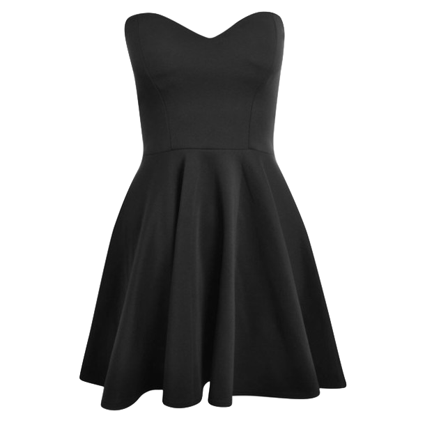 Little Black Dress Featuring Sweetheart Neckline and A-line Silhouette