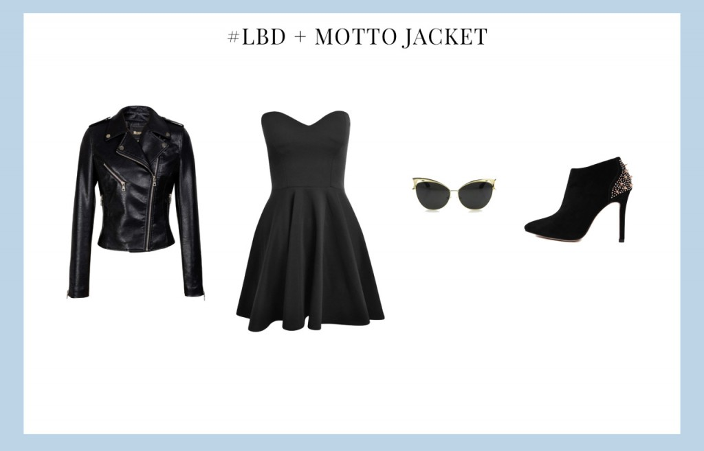 Little Black dress With Motto Jacket