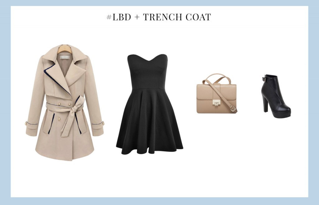 Little Black Dress with Trench Coat