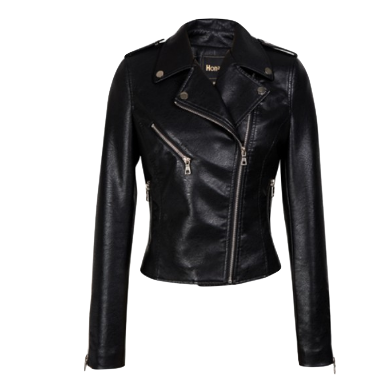 The Çlassic Black Leather Jacket With Asymmetrical Zipped Opening