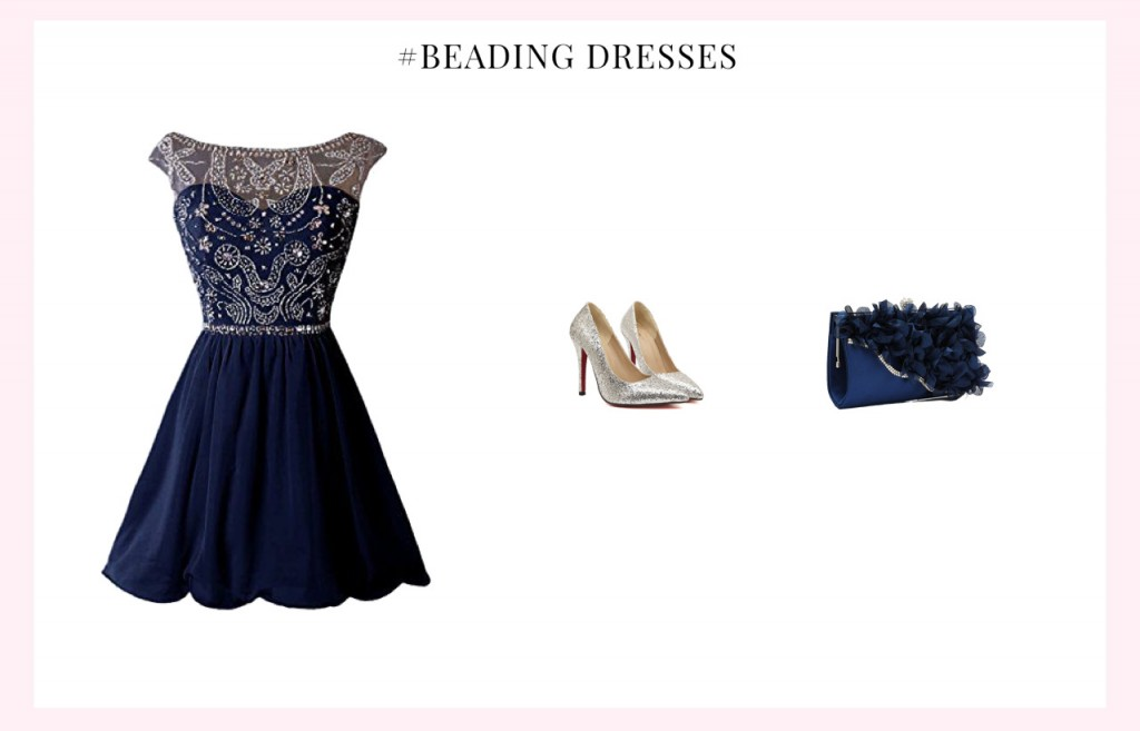 beaded homecoming dress