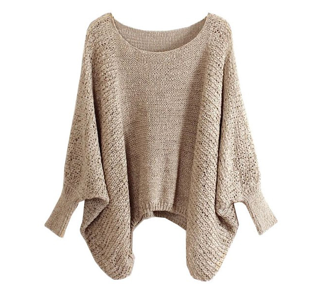 beige-slouchy-knit-sweater-with-batwing-sleeves