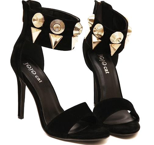 black-high-heel-sandals-with-rivets-and-studded-embellished-straps
