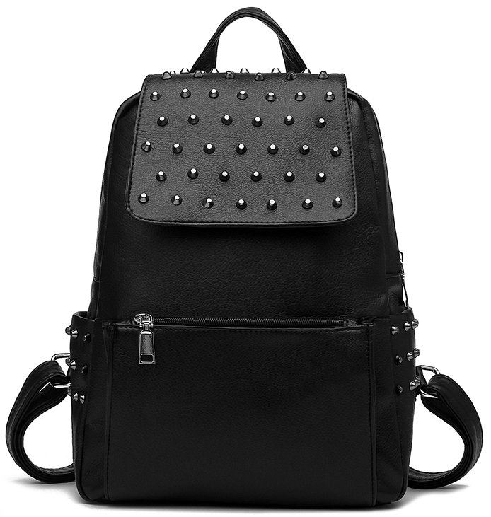black-pu-leather-backpack-with-studded-details