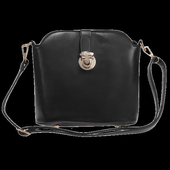 black-pu-leather-shoulder-bag