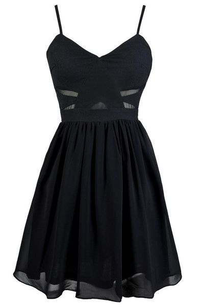 black-spaghetti-straps-skater-dress-with-sheer-and-cutout-detailing-homecoming-party-formal-dress