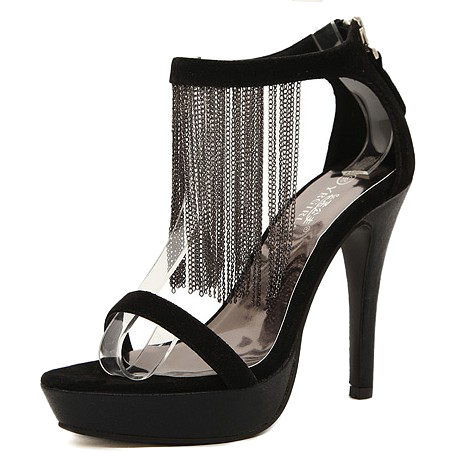black-stiletto-ankle-strap-heels-decorated-with-tassels
