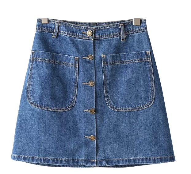 blue-a-line-denim-skirt-with-button-front-and-dual-pocket