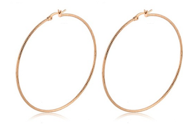 Circle Hoop Earrings (Gold)