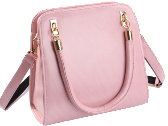 luxurious-pink-pu-leather-shoulder-bag