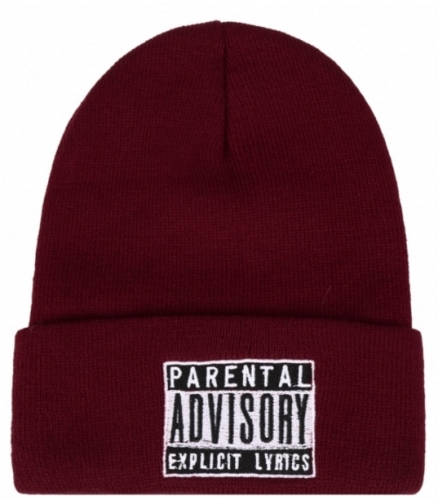 Parental Advisory Logo Knit Beanie