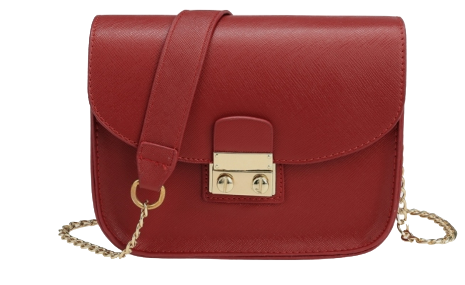 red-leather-mini-chain-crossbody