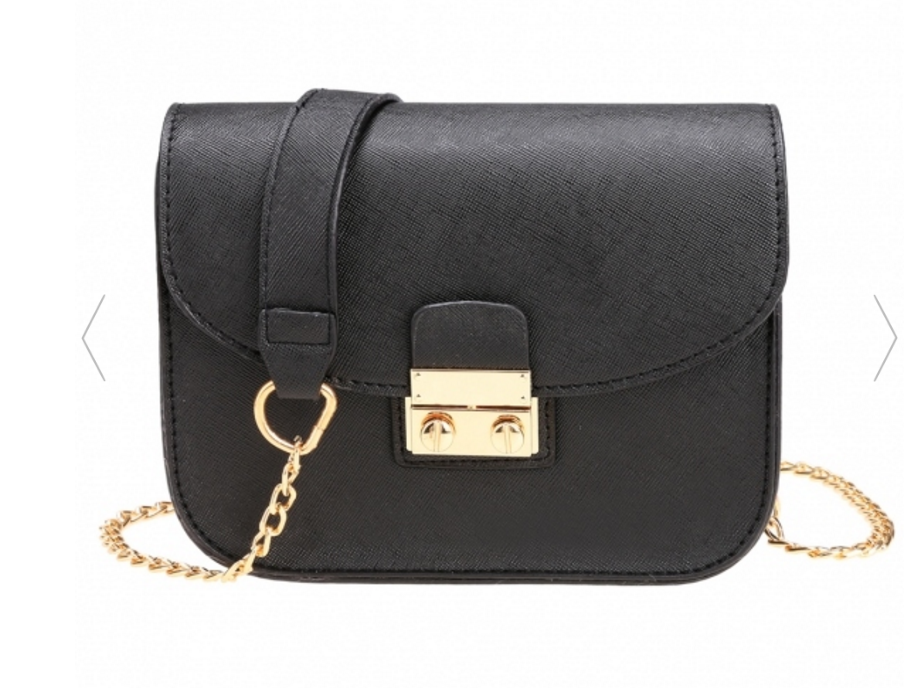 synthetic-leather-mini-chain-crossbody-with-buckle-clasp