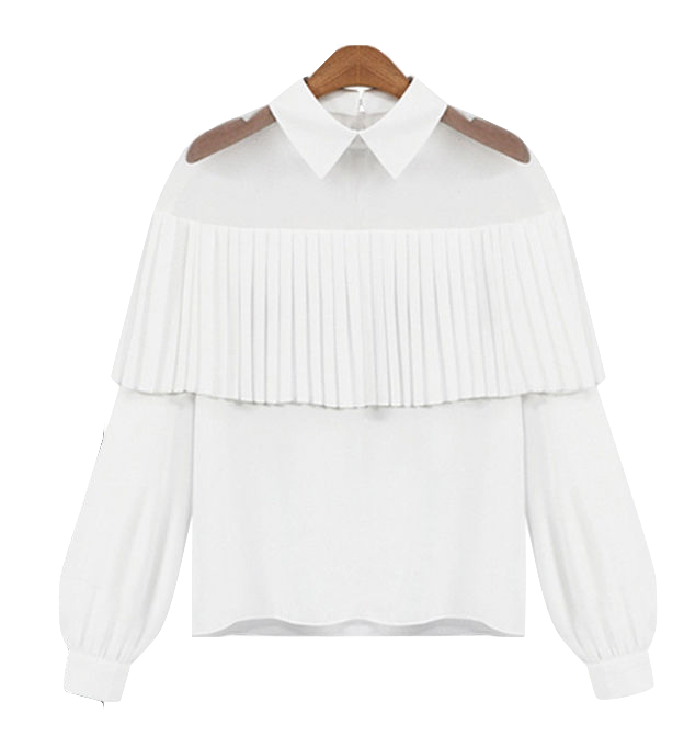 white-shirt-with-pleats-and-sheer-detailing