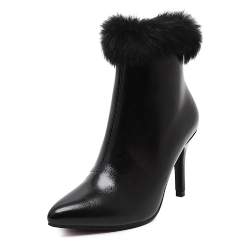 winter-fashion-pointed-toe-fur-decorated-stiletto-super-high-heel-black-pu-ankle-martens-boots