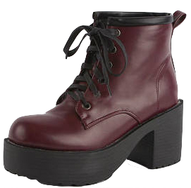 womens-burgundy-lace-up-ankle-boots-with-chunky-heels