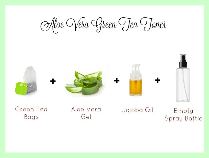 aloe vera green tea toner