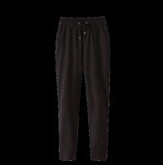 black-chiffon-jogger-pants