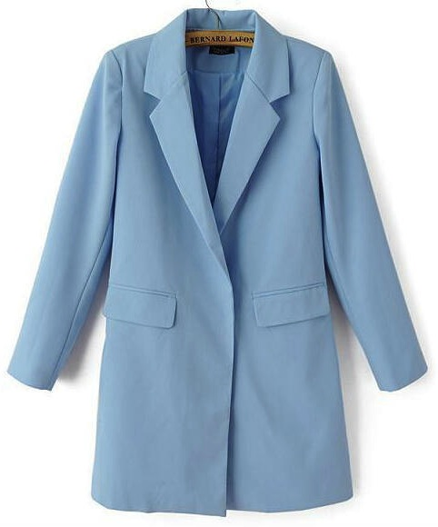 blue long blazer