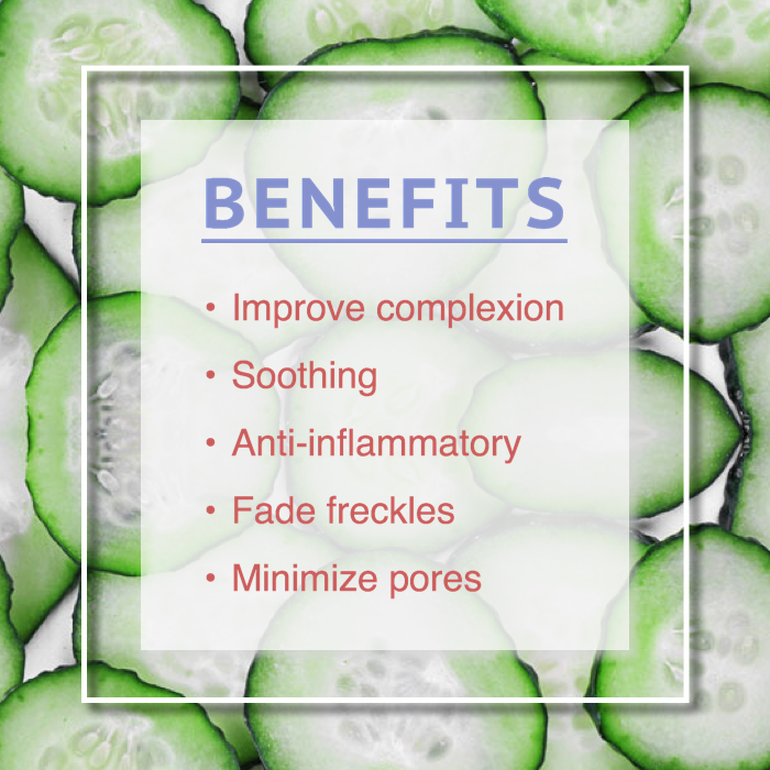 cucumber toner benefits