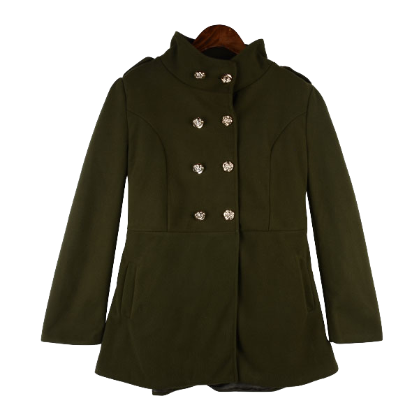 dark-green-fleece-wool-trench-coat
