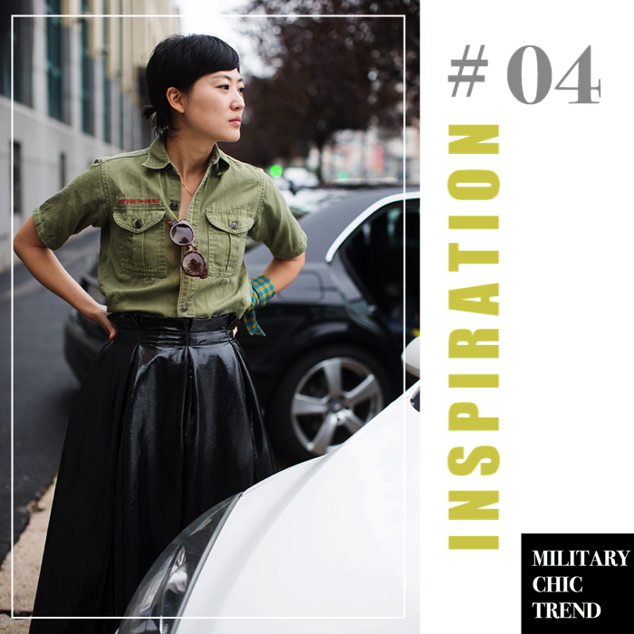 military chic trend inspiration 4