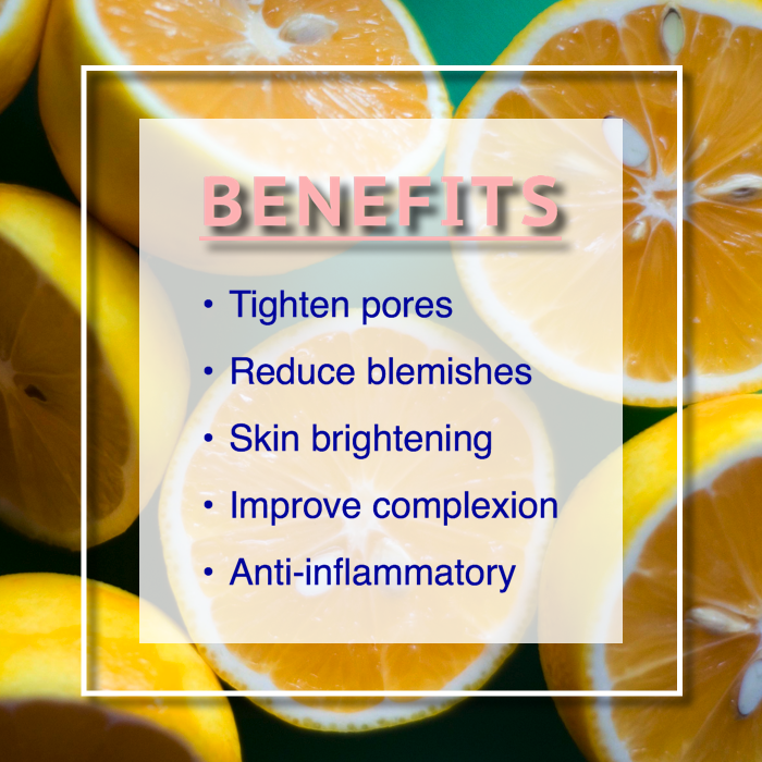 lemon toner benefits