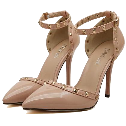 nude-studded-ankle-strap-heels